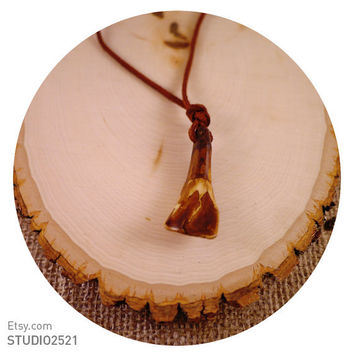 Handmade Buffalo Tooth Necklace Jewelry for Her...