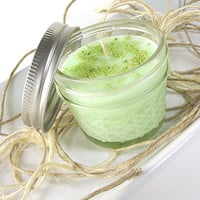 """Soy Candle - Gummy Bears scented Soy """"Fluorescent"""" Candle -- 4 ounce Jar"""