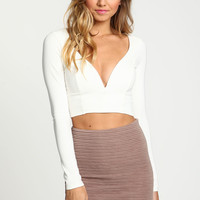 Curved Sweetheart Crop Top