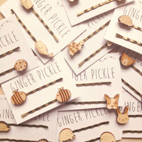 Laser Cut Wooden Hot Air Balloon Hair Grips