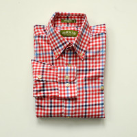 Orvis Red White & Blue Gingham Shirt