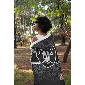 Raider Split Tribal Hooded Blanket