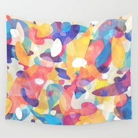 Chaotic Construction Wall Tapestry by Tracie Andrews