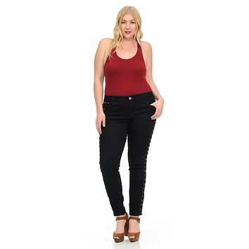 M.Michel Women's Jeans - Plus Size - High Waist - Push Up - Skinny - Style S6149