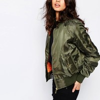 Liquor n Poker Padded Bomber Jacket at asos.com