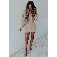 Everything Right Dress: Nude