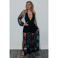 Loved By You Romper: Black