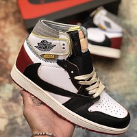 AIR JORDAN 1 AJ1 x UNION joint high-top sports basketball shoes