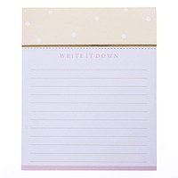 Write It Down Jotter Notepad