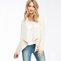 Casual Cream Long Sleeve Blazer