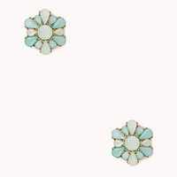 Cluster Faux Stone Studs