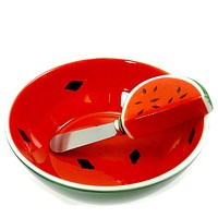 Tabletop BOWL & SPREADER Ceramic Summer Picnic Set/2 Watermelon 55149 WATERMELON