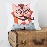 DENY Animal Crew Eclectic Cat Pillow- Multi One