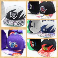 Team Snapback Floral Design Hats from CherryKreations21