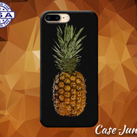 Pineapple Black Gold Fruit Tumblr Inspired Cute Summer Case iPhone 5 5s 5c iPhone 6 and 6+ and iPhone 6s iPhone 6s Plus iPhone SE iPhone 7 +