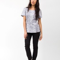 The Peplum Top in Snakeskin - Medical Scrubs by Jaanuu