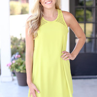 Mod Maven Dress - Chartreuse