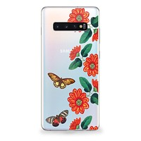 Vintage Butterflies and Daisies Samsung Galaxy Case
