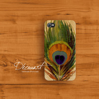 Peacock iphone 4 case iphone 4s case case for iPhone 4 by Decouart