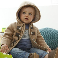 2016 Retail Fashion Kids Trench Coat Children Hoodies Coat Parkas Winter Long Sleeve Warm Boys Jacket Outwear Baby Hooded Coat Clothing F11