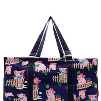Utility Tote Large - Piglet Print - 2 Color Choices