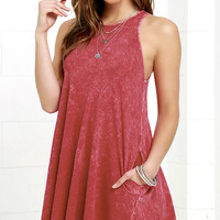 Best Coast Washed Red Dress