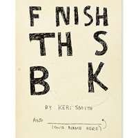 Finish This Book Book - Urban Outfitters