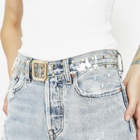 Crystal Clear Studded Belt