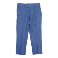 Isaac Mizrahi Boys' Birdseye Dress Blue Pant
