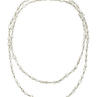 So French Platinum Diamond Necklace | Moda Operandi