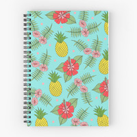 'Tropical Pattern' Spiral Notebook by Sarah Oelerich