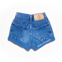 "ALL SIZES Vintage ""HELIOS"" High Waisted Denim Short"