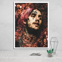 Lil Peep  Photo Canvas Poster Tableau Decoration Murale Salon Posters Paintings on The Wall Deco Home Wall Art The Decoration