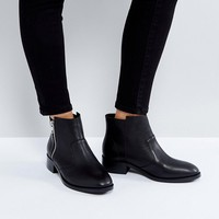 ASOS AMPLE Leather Zip Ankle Boots at asos.com