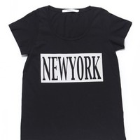 NEW YORK DRESS TEE / BLACK - JOYRICH Store