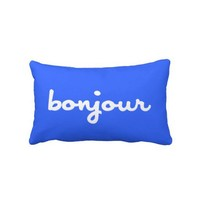 BONJOUR - French - Hello - Throw Pillows from Zazzle.com