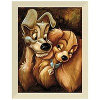 Lady and the Tramp Giclée by Darren Wilson   Disney Store