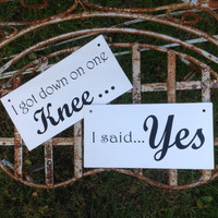 Engagement Photo props - Wedding Bride Groom signs - Photo prop - Wedding Reception Decor