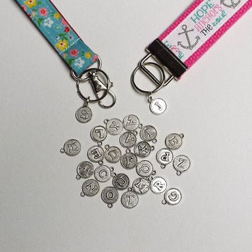 Initial Charm ADD ON - Add a letter / Initial to your key fob, keychain, or lanyard