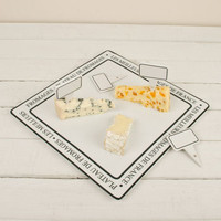 French Cheese Plate With Four Name Markers