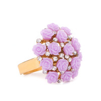 Bouquet Of Roses Ring - Lilac