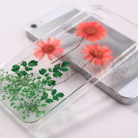 iPhone 6 case iPhone 6 plus Pressed Flower, iPhone 5/5s case, iPhone 4/4s case,  5c case Galaxy S4 S5 Note 2 note 3 Real Flower case NO:F63