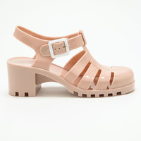 NUDE JELLY SANDALS