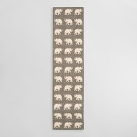 Silver Elephants Terrace Indoor Outdoor Area Rug