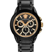 Versace - Black and Gold Medusa Watch