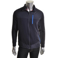 Nautica Mens Wicking Textured Athletic Jacket