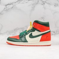 Miami boutique SoleFly x Air Jordan 1 Retro High OG Sail Team Orange-Fir Sneaker - Best Deal Online