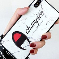 Champion Popular Logo Iphonex Mobile Phone Case Couple Silicone Anti Drop Iphone7plus Creative Soft 6 Men And Women 8 Hang Rope
