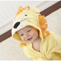 Baby Aspen Big Top Baby Lion Hooded Spa Robe