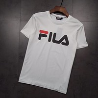 FILA Men Womens Cotton T-shirt